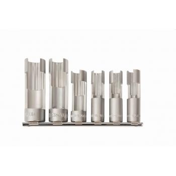 BAHCO Befecskendező és szonda szerelő nyított kulcsok, 10, 11, 12, 14, 17 and 19 mm