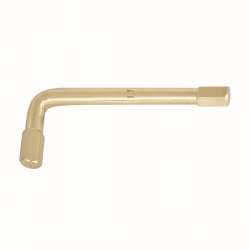 BAHCO Szikramentes hajlított tengelyű kulcs, Alumínium-Bronz, Al-Br, 3mm