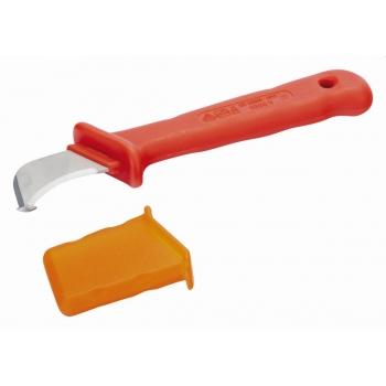 BAHCO Szigetelt kés, hajlított, kézvédővel