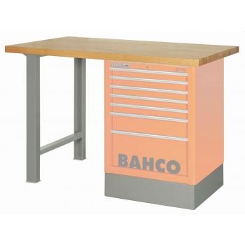 BAHCO Fa tetejű munkaasztal oldalsó fiókszekrénnyel