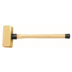 BAHCO Szikramentes Német DIN kalapács, erősített nyéllel, Alumínium-Bronz, Al-Br, 2500g