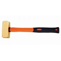 BAHCO Szikramentes Német DIN kalapács, üvegszál erősített nyéllel, Alumínium-Bronz, Al-Br, 3500g