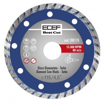 """ECEF Gyémánttárcsa, TURBO fogazással 115 MM 4,5"""""""