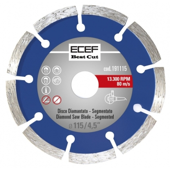 """ECEF Gyémánttárcsa, Szegmentált fogazással 115 MM 4,5"""""""