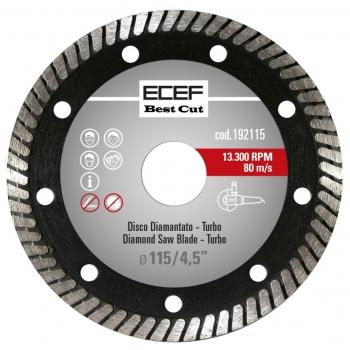 """ECEF Gyémánttárcsa, TURBO fogazással, Professzionális 115 MM 4,5"""""""