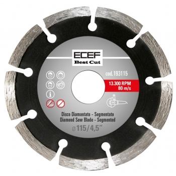 """ECEF Gyémánttárcsa, Szegmentált fogazással, Professzionális 115 MM 4,5"""""""