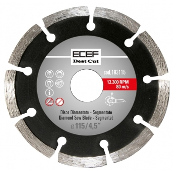 """ECEF Gyémánttárcsa, Szegmentált fogazással, Professzionális 230 MM 9"""""""