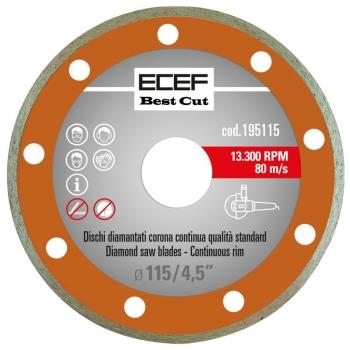"""ECEF Gyémánttárcsa, folytonos vágórésszel 115 MM 4,5"""""""
