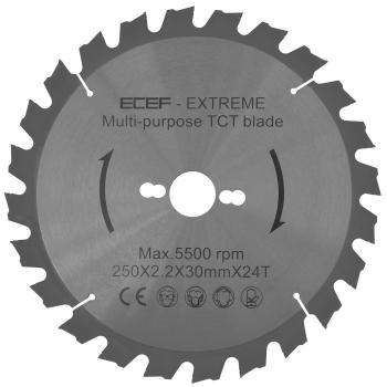 ECEF Multifunkciós körfűrészlap, fára és fémre 250 MM