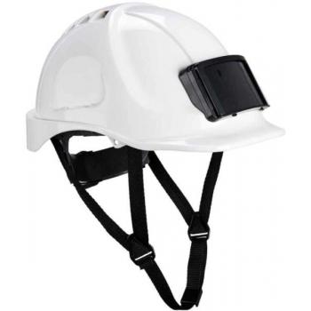 PORTWEST Védősisak PB55WHR, jelvénytartóval, védőszemüveggel kombinált, használható: 7 év gyártástól, FEHÉR