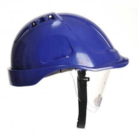 PORTWEST Védősisak védőszemüveggel kombinált, használható: 7 év gyártástól, royal kék