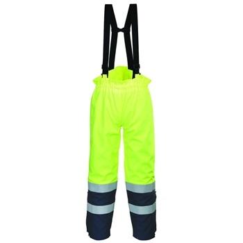 Bizflame Multi Arc Lángálló láthatósági nadrág FR78 PORTWEST Szín: sárga / tengerészkék, Méret: XL