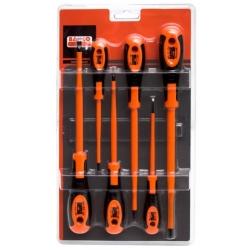 BAHCO Szigetelt csavarhúzó készlet, 6 részes, lapos 3, 4, 5.5, 6.5mm, és PH 1, PH 2
