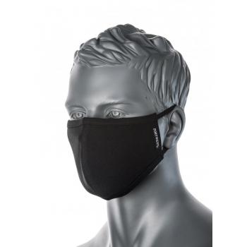 PW-2 rétegű anti mikrobiális arcmaszk. Szín: Fekete