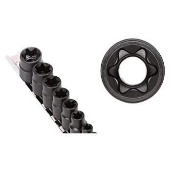 """BAHCO 1/2"""" Dugókulcs klt, E10-E20, E-TORX®, sínben"""