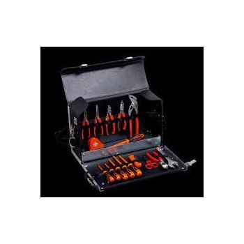 BAHCO 16 darabos villanyszerelő szerszámkészlet bőrtáskában