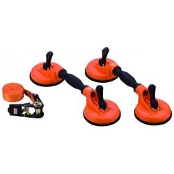 BAHCO Tapadókorongos szélvédőkiemelő 150kg-ig, 2db+ 5m*25mm spanifer