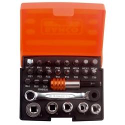 BAHCO Bitkészlet bitekkel, dugókulcsokkal, racsnival és átalakítóval