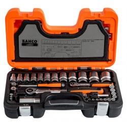 """BAHCO 1/4"""" és 1/2"""" dugókulcs készlet 56 részes Bi-hex dugókulcs"""