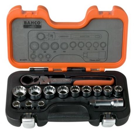 BAHCO Átmenős dugókulcs készlet, 14 részes Multifej-TRIPLEplus®
