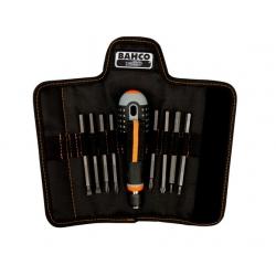 BAHCO ERGO™ Csavarhúzó készlet cserélhető szárakkal, 8 részes , hornyolt, Phillips, PZ és TORX ® csavarokhoz