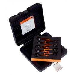 """BAHCO Erősített dugókulcs készlet fékrendszerekhez, 1/2""""-os fékekhez, 9 részes, T20, T25, T27, T30, T40, T45, T50, T55, T60"""