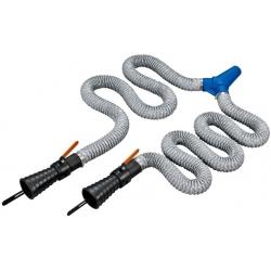 BAHCO Kipufogógáz füstelszívó dupla flexibilis cső, 2,5m