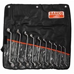 BAHCO Hajlított fejű csillagkulcs készlet, metrikus, 10 részes
