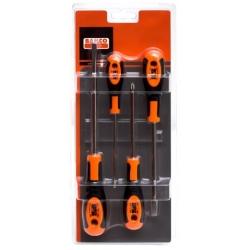 BAHCO Csavarhúzó készlet, 4 részes, lapos 3, 5.5mm és PH-1, PH-2