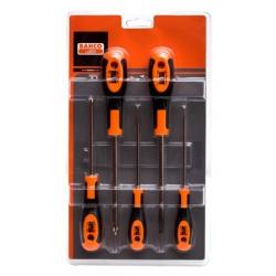 BAHCO Csavarhúzó készlet, 5 részes: lapos 3, 4, 6.5 és PH-1, 2